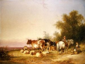 William Shayer Senior - Herders Resting at Lunch