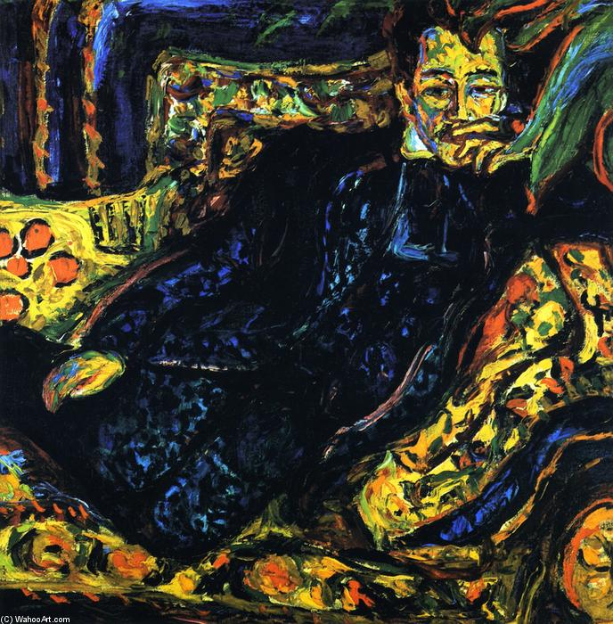 Herrenbildnis, Hans Frisch, Oil On Canvas by Ernst Ludwig Kirchner (1880-1938, Germany)