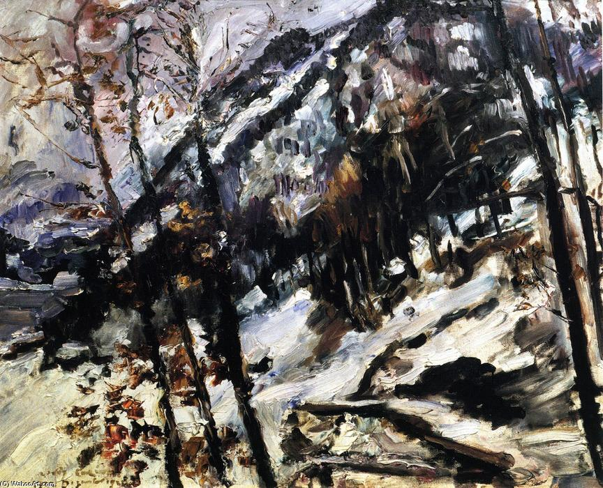 The Herzogstand on Walchensee in the Snow, Oil On Canvas by Lovis Corinth (Franz Heinrich Louis) (1858-1925, Netherlands)