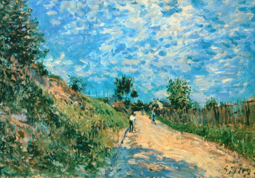 Hill Path, Oil On Canvas by Alfred Sisley (1839-1899, France)
