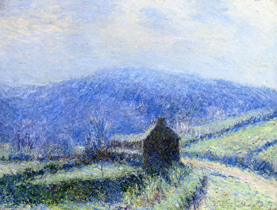 Hoarfrost at Huelgoat, Finistere, 1903 by Gustave Loiseau (1865-1935, France) | Art Reproductions Gustave Loiseau | WahooArt.com