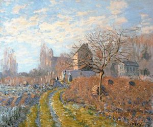 Alfred Sisley - Hoar Frost -St. Martin's Summer (Indian Summer)