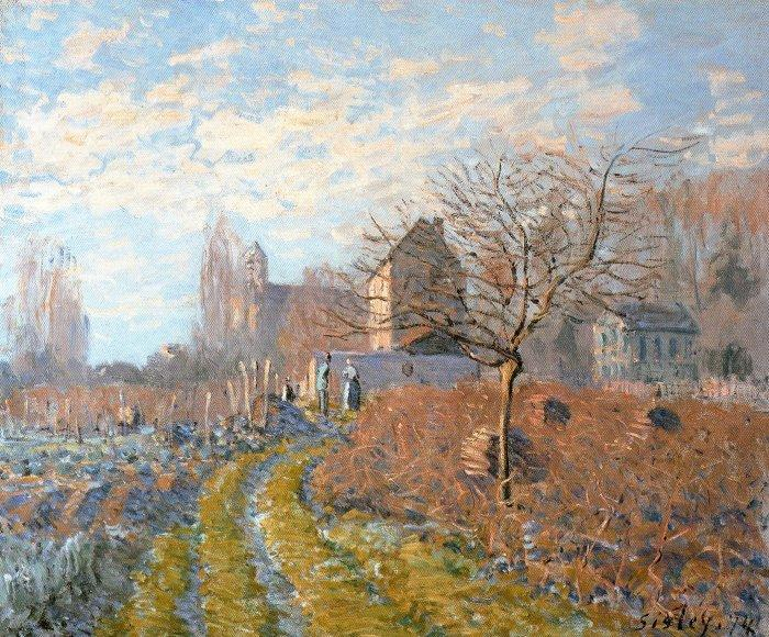 Hoar Frost -St. Martin's Summer (Indian Summer), Oil On Canvas by Alfred Sisley (1839-1899, France)