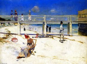 Charles Edward Conder - A Holiday at Mentone