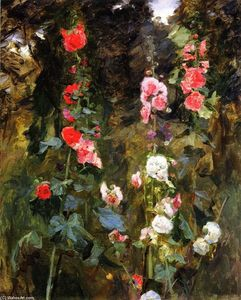John Singer Sargent - Hollyhocks, Isle of Shoals