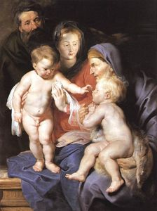 Peter Paul Rubens - The Holy Family with Sts Elizabeth and John the Baptist