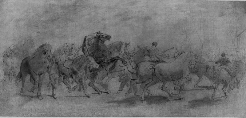The Horse Fair (study), 1850 by Rosa Bonheur (1822-1899, France)