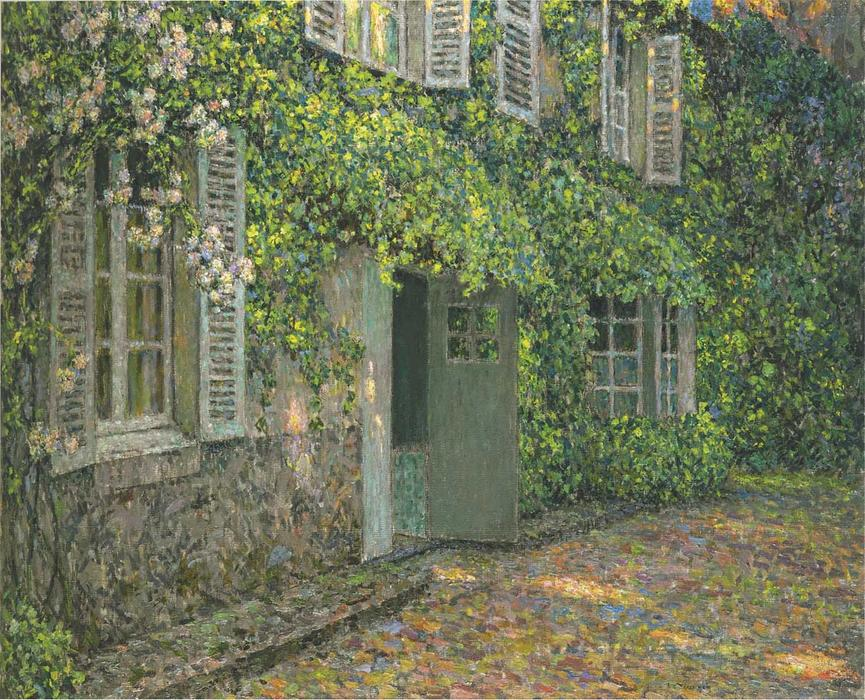 The House in Summer, Oil On Canvas by Henri Eugène Augustin Le Sidaner (1862-1939, Mauritius)