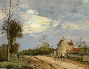 Camille Pissarro - The House of Monsieur Musy, Route de Marly, Louveciennes - (Famous paintings reproduction)