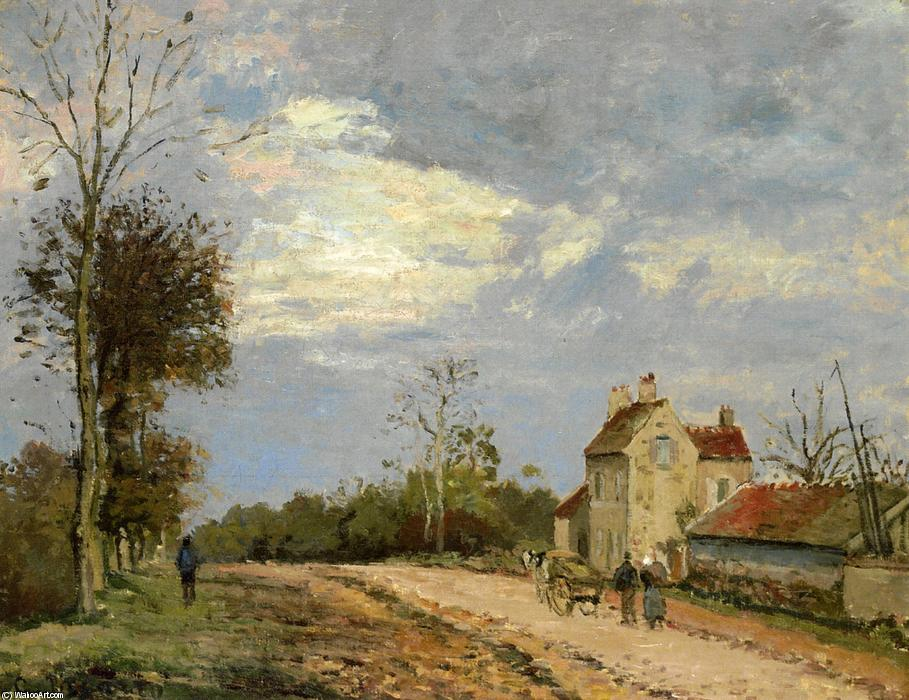The House of Monsieur Musy, Route de Marly, Louveciennes, 1872 by Camille Pissarro (1830-1903, United States) | Museum Quality Reproductions | WahooArt.com