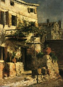 John Henry Twachtman - House on a Canal, Venice