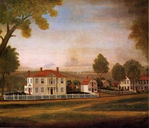 Ralph Earl - Houses Fronting New Milford Green