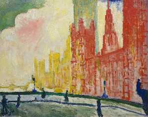 André Derain - The Houses of Parliament and Westminster Bridge