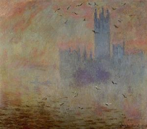 Claude Monet - Houses of Parliament, Seagulls