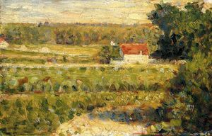 Georges Pierre Seurat - House with Red Roof