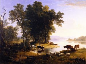 Asher Brown Durand - Hudson River Looking Toward the Catskills