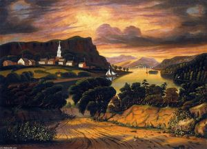 Thomas Chambers - The Hudson Valley, Sunset