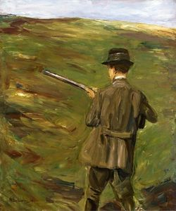 Max Liebermann - A Hunter in the Dunes