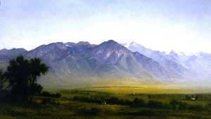 Gilbert Munger - Indian Camp at the Base of the Wasatch Range