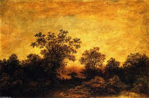 Ralph Albert Blakelock - Indian Encampment at Twilight