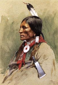 Henry F Farny - Indian Portrait