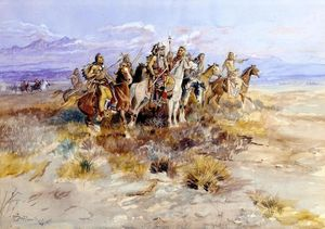 Charles Marion Russell - Indian Scouting Party