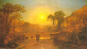 Jasper Francis Cropsey - Indian Summer on the Delaware River