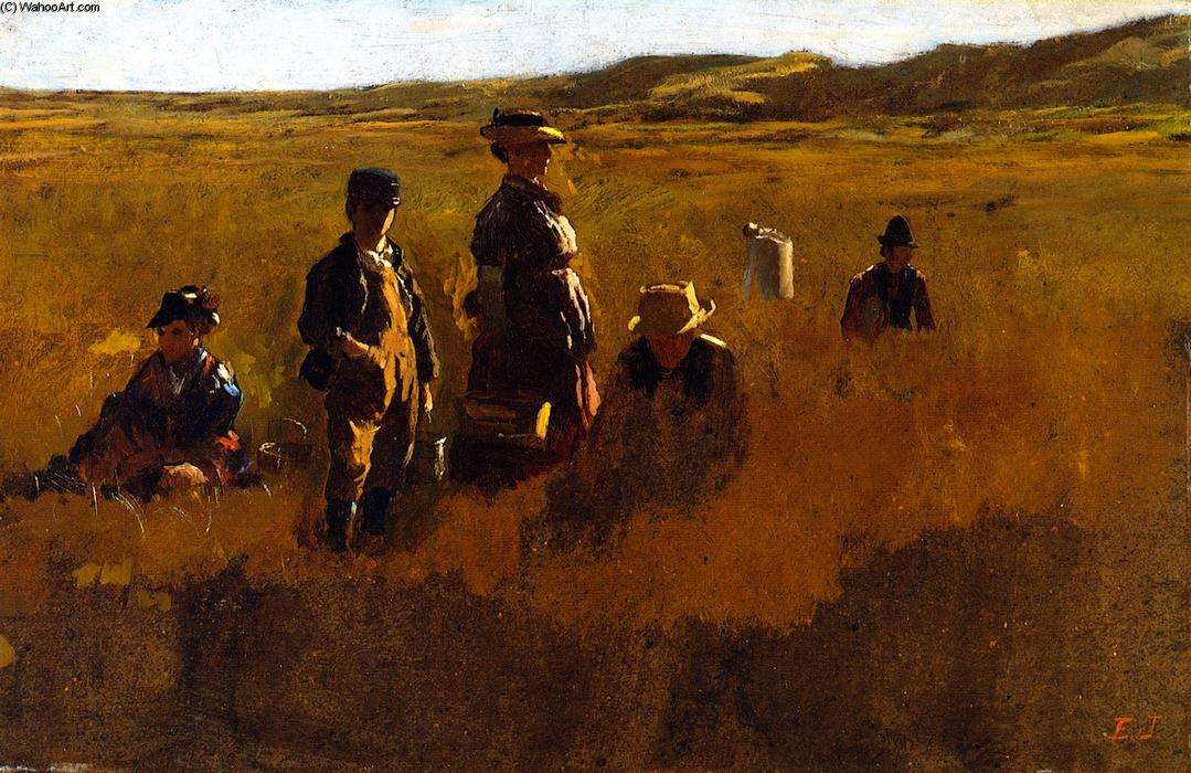Order Oil Painting : In the Fields, 1878 by Jonathan Eastman Johnson (1824-1906, United Kingdom) | WahooArt.com