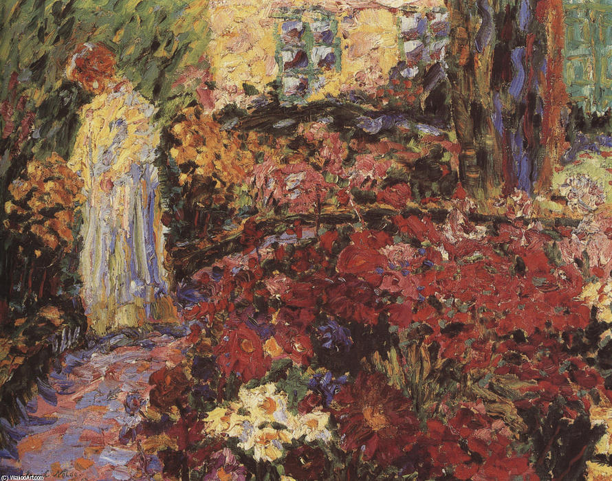 In the Flower Garden, 1907 by Emile Nolde (1867-1956, Germany) | Painting Copy | WahooArt.com