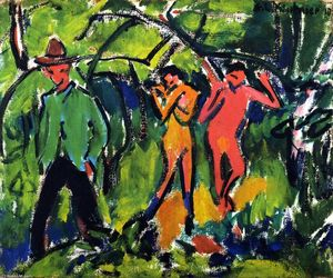 Ernst Ludwig Kirchner - In the Forest