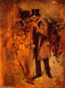 Jean Louis Forain - In Front of the Stock Exchange No. 1