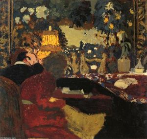 Jean Edouard Vuillard - In front of a Tapestry, Misia and Thadee Nathanson, Rue St. Florentin