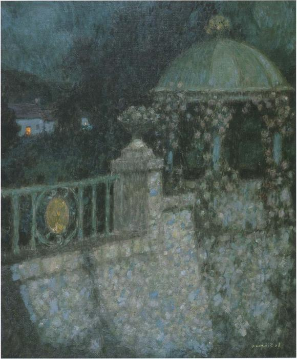 In the full moon, Oil On Canvas by Henri Eugène Augustin Le Sidaner (1862-1939, Mauritius)