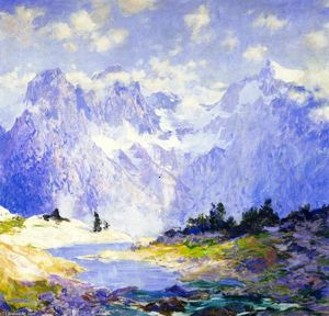 Guy Orlando Rose - In the High Canadian Rockies