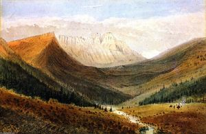 James Madison Alden - In the Kishinena Pass, Rocky Mountains, British Columbia