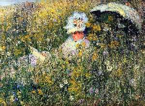 Claude Monet - In the Meadow (detail)