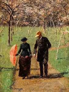 William Brymner - In the Orchard (also known as Spring)