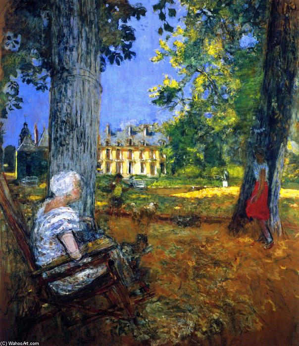 In the Park at the Château des Clayes, Painting by Jean Edouard Vuillard (1868-1940, France)