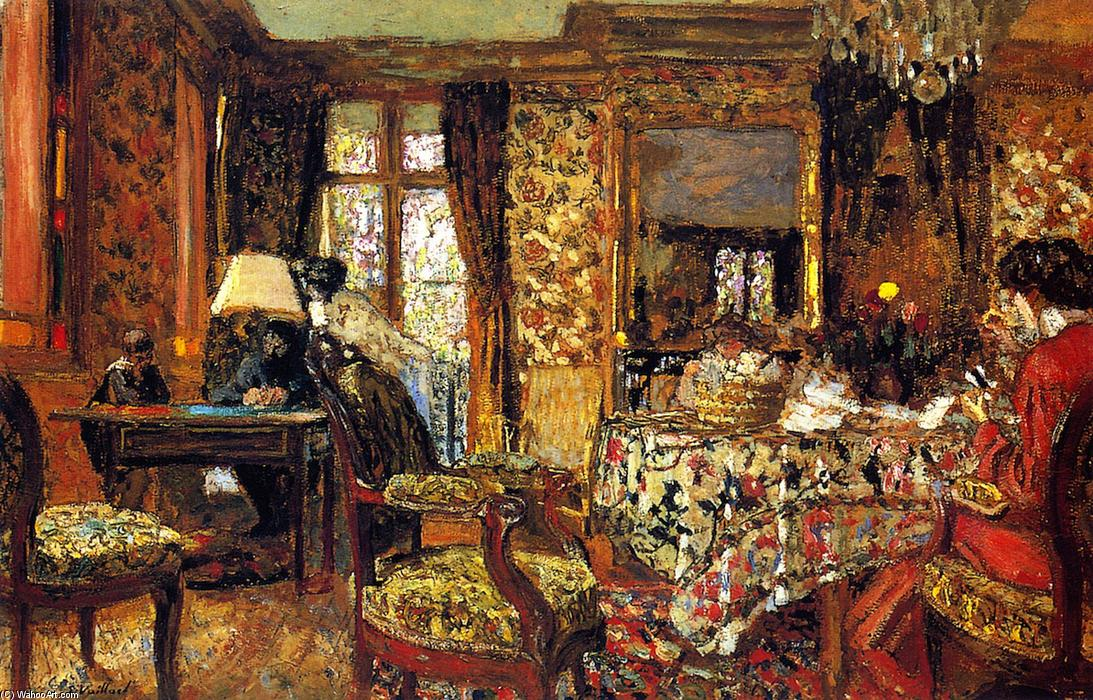 In the Room, Oil On Panel by Jean Edouard Vuillard (1868-1940, France)