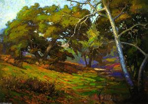 Franz Bischoff - In the Shade of the Arroyo