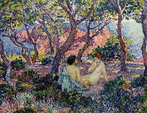 Theo Van Rysselberghe - In the Shade of the Pines