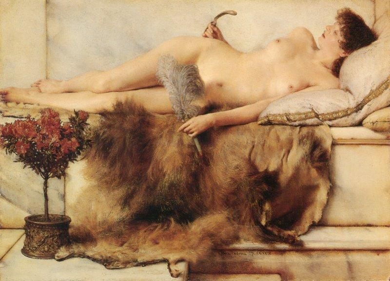 In the Tepidarium, 1881 by Lawrence Alma-Tadema (1836-1912, Netherlands) | Oil Painting | WahooArt.com