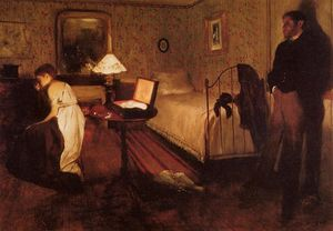 Edgar Degas - Interior (also known as The Rape)