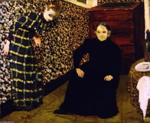 Jean Edouard Vuillard - Interior, Mother and Sister of the Artist