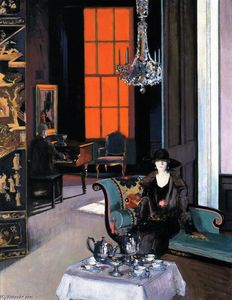 Francis Campbell Boileau Cadell - Interior: The Orange Blind