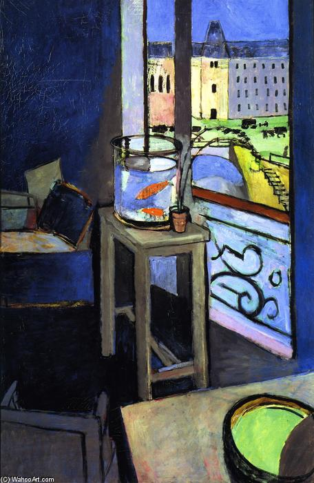 Interior with Goldfish, 1914 by Henri Matisse (1869-1954, France) | Oil Painting | WahooArt.com