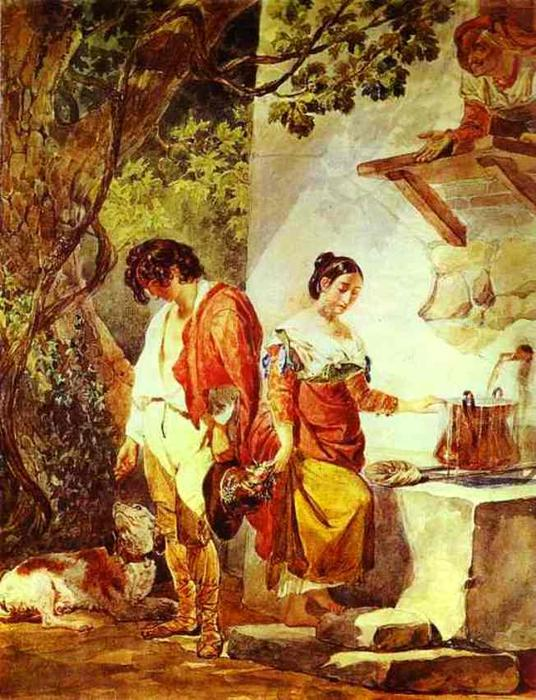 An Interrupted Date, 1823 by Karl Pavlovich Brulloff | Painting Copy | WahooArt.com