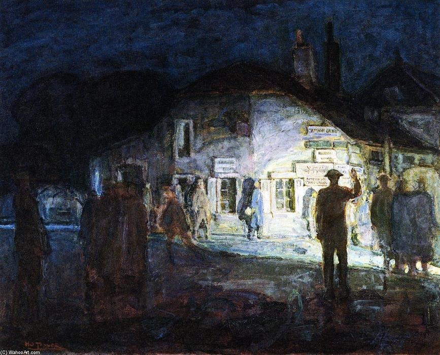 Intersection of Roads, Neufchateau, World War I, 1918 by Henry Ossawa Tanner (1859-1937, United States) | Oil Painting | WahooArt.com