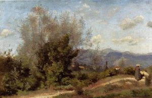 Jean Baptiste Camille Corot - In the Vicinity of Geneva