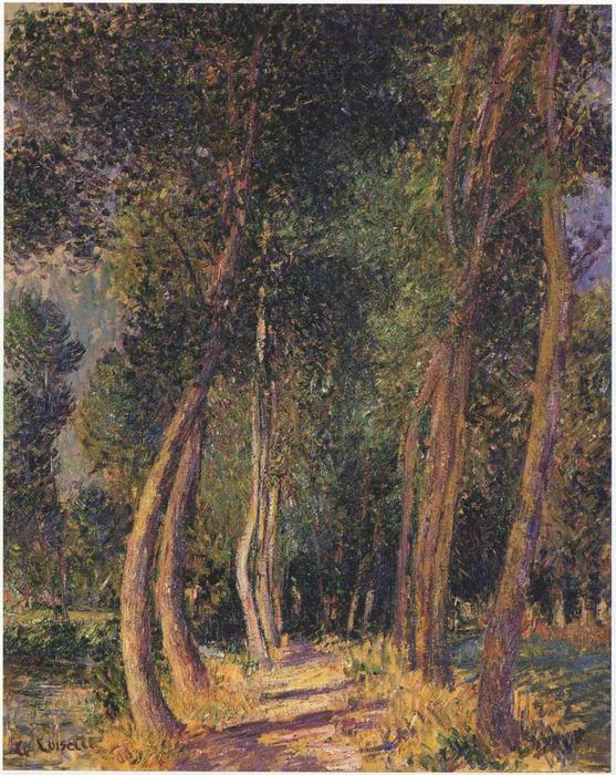 In the Woods by Gustave Loiseau (1865-1935, France) | Famous Paintings Reproductions | WahooArt.com